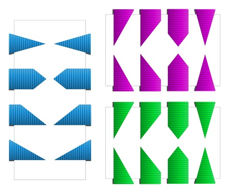 Set of Triangle Bookmarks with Texture Stock Vector - 15196946