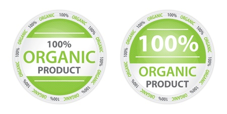 promote: 100% Organic Product Label in 2 Versions