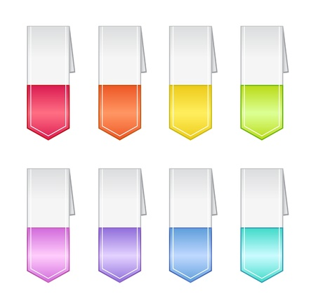 Bookmarks in Pastel Colors Stock Vector - 15196967