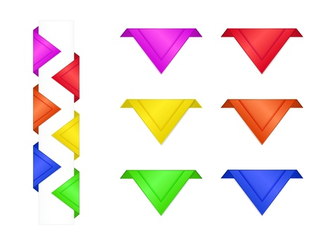 Colorful Bookmarks Stock Vector - 15196975