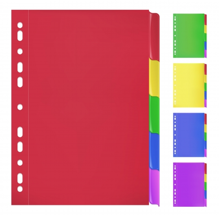 Colorful Folders with Bookmarks Vector