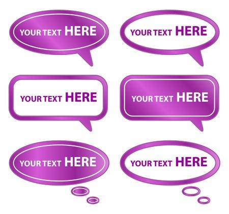 Purple Speech Bubbles Stock Vector - 15196971