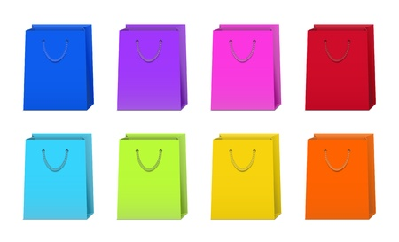 Set of Colorful Shopping Bags Stock Vector - 15196981