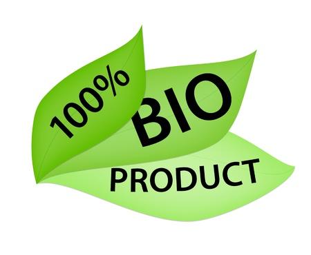100  Bio Product Label Stock Vector - 14955173