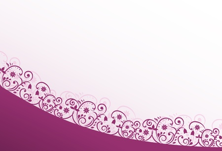Greeting Card with Pink and Violet Swirls Stock Vector - 14955172