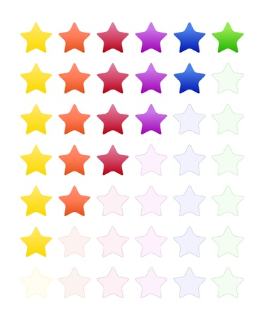Rate Stars Stock Vector - 14955166