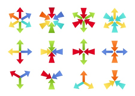 diverging: Colorful Converging and Diverging Shapes