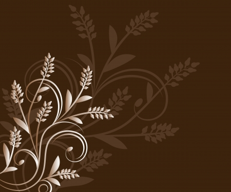 Brown Floral Background Illustration