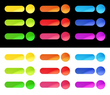 Colorful Web Buttons Template Stock Vector - 15039206
