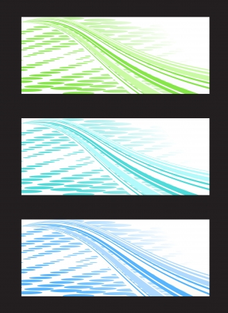 Abstract Background Banner in Three Color Combination Stock Vector - 15039202