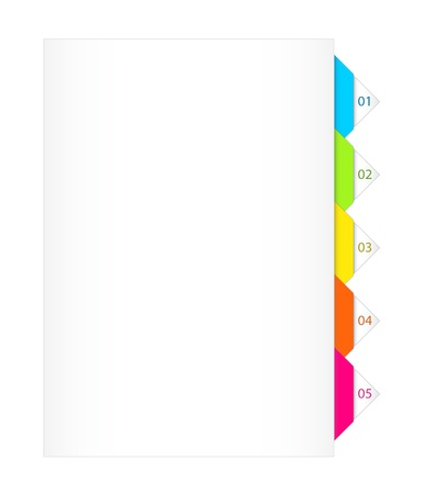 assign: Colorful Numbered Bookmarks Illustration