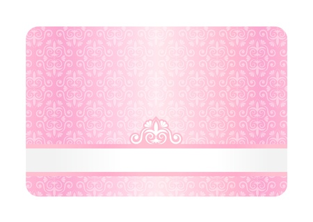 Pink Card with Vintage Pattern Stock Vector - 16111169