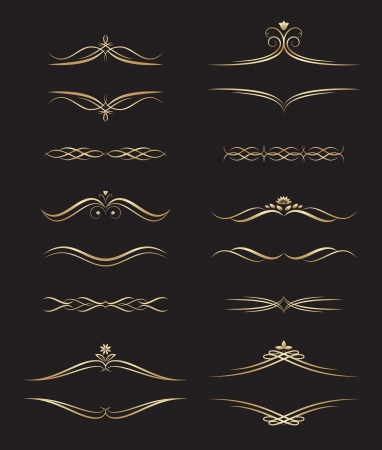 Gold Decorative Labels