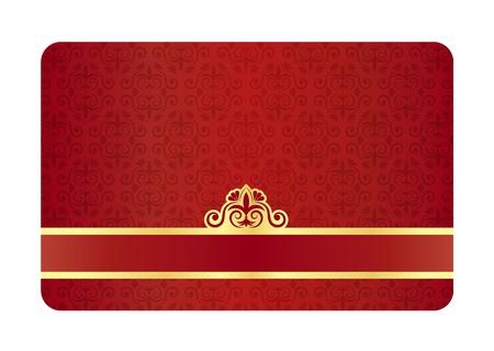 membres: Exclusif carton rouge avec motif floral vintage Illustration