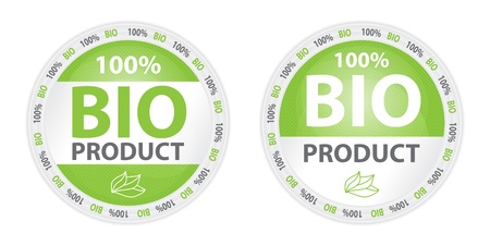 100  Bio Product Label in Two Versions Stock Vector - 16823097