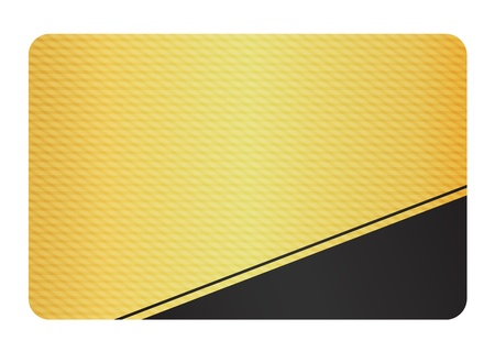 Golden Business Card with Modern Texture and Black Corner Illustration