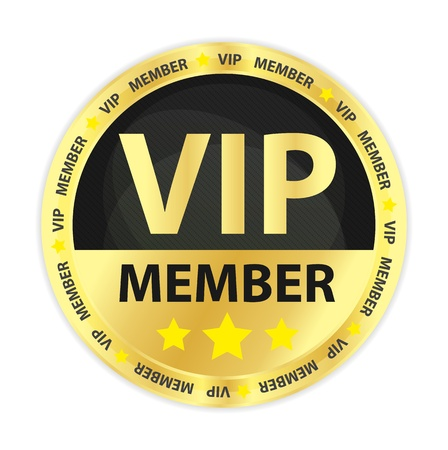 VIP Member Golden Badge Stock Vector - 16823095
