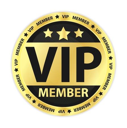 VIP Member Golden Label 向量圖像