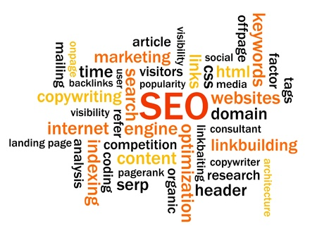 tag cloud: Search Engine Optimization Abstract Image Illustration