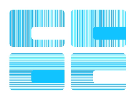 Business cards with blue stripes Vector