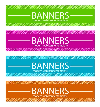 Web Banners Template in Four Colors Stock Vector - 17209154