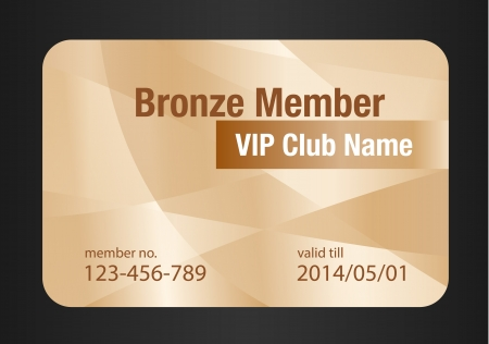 membership: Bronze VIP Club Card Illustration