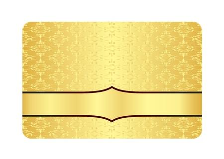membres: Carte de Golden Luxury avec motif vintage Inscribed