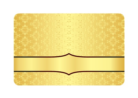 Luxury Golden Card with Inscribed Vintage Pattern Vector