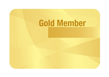 Gold VIP Club Card Illustration