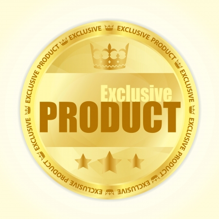 bestseller: Premium member badge with royal crown and three golden stars