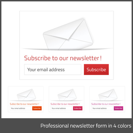 Light Subscribe to newsletter form with white background  Vector