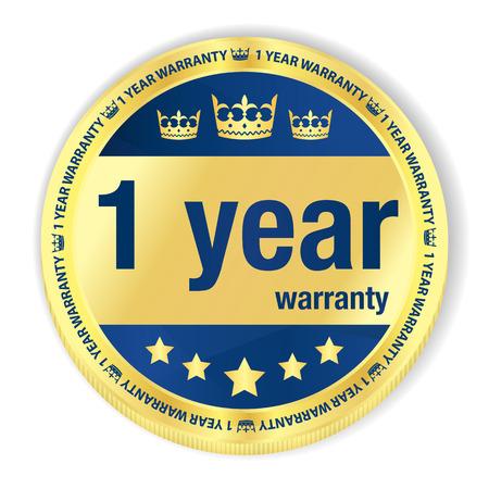 top class: 1 year warranty badge