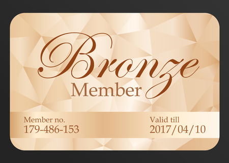access card: Luxury bronze member card Illustration