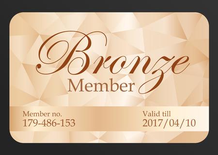 Luxus Bronze Mitgliedskarte Vektorgrafik