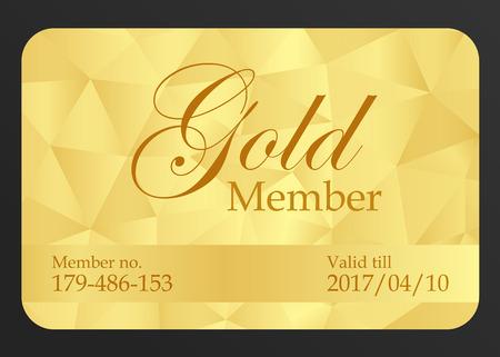 Gold member card Ilustracja