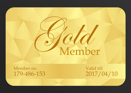 Tarjeta de miembro de oro Ilustración de vector
