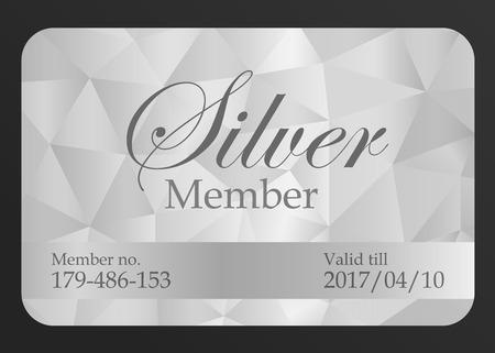 Silver member card Illustration