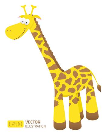 Smiling cartoon giraffe illustration 일러스트
