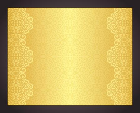 Luxus-goldenen Hintergrund im Vintage-Stil Illustration
