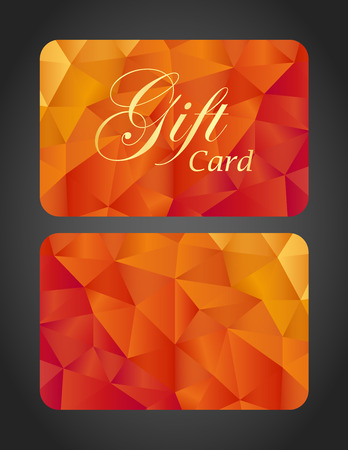 Luxury gift card - top and bottom side Vector