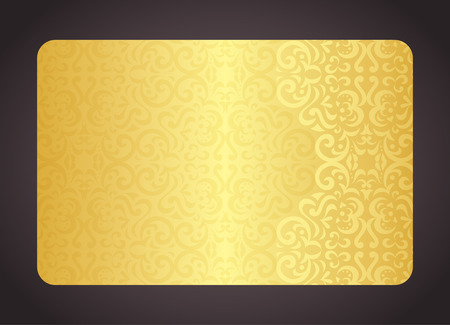 Luxury golden card with vintage pattern Vettoriali