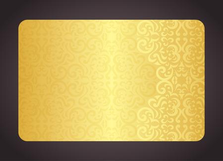 Luxury golden card with vintage pattern Illustration