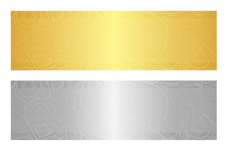 Luxury golden and silver gift certificate in vintage style 版權商用圖片 - 32230311