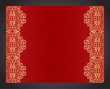 Luxury red background in vintage style Illustration