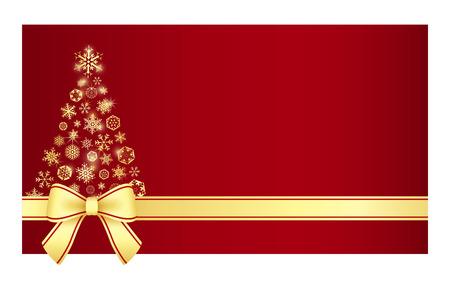 Luxe Kerst certificaat met kerstboom samengesteld uit sneeuwvlokken