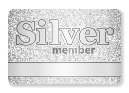 on silver: Silver member VIP card composed from glitters Illustration