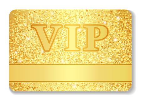 membership: VIP club card composed from golden glitters
