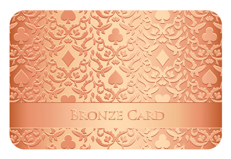 succes: Luxury bronze card with card symbols ornament
