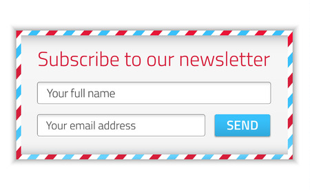 get in touch: Modern newsletter form with name and email Illustration