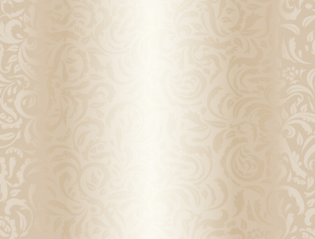 Luxury cream background with floral pattern Stock Illustratie